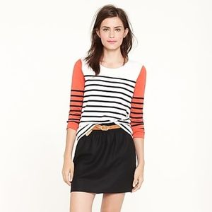 J.Crew Striped Top Blouse 3/4 Sleeve 95702 Casual